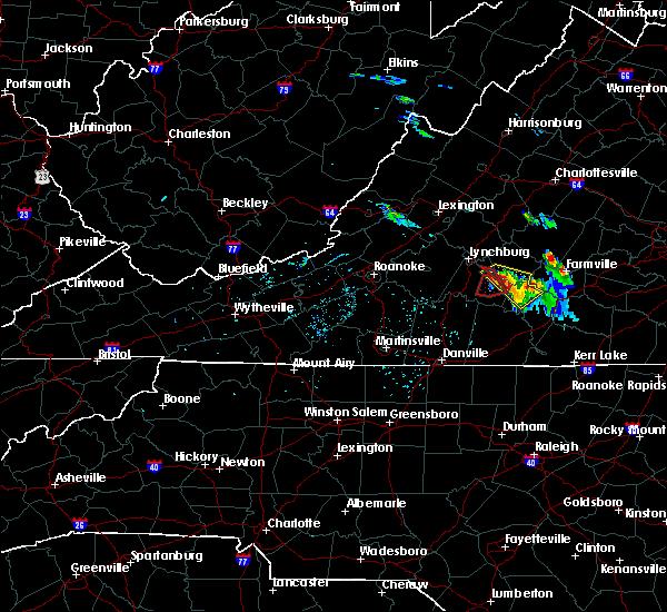 Radar Image for Severe Thunderstorms near Rustburg, VA at 5/10/2017 8:21 PM EDT