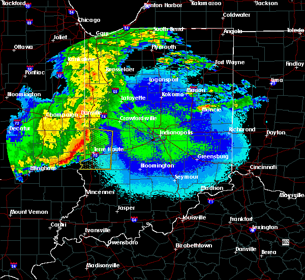 Radar Image for Severe Thunderstorms near Marshall, IN at 5/10/2017 10:18 PM EDT