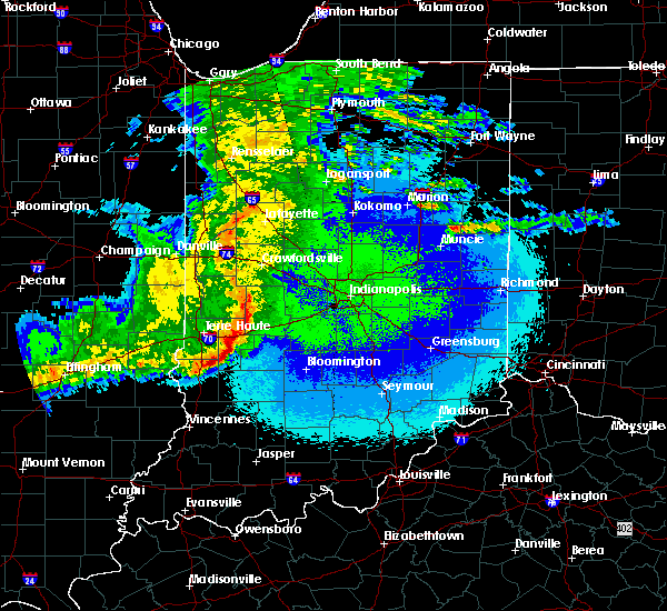 Radar Image for Severe Thunderstorms near Paragon, IN at 5/10/2017 10:49 PM EDT