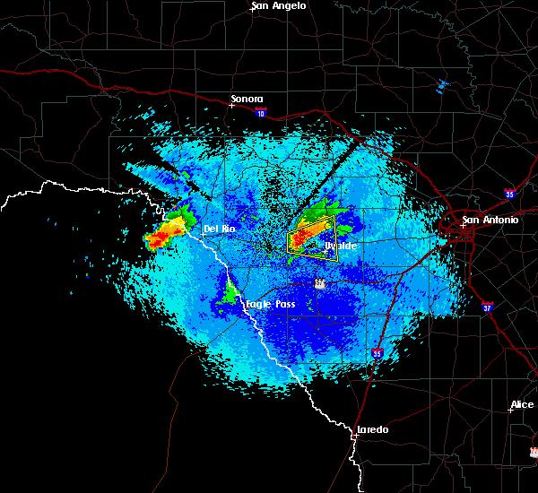 Radar Image for Severe Thunderstorms near Uvalde Estates, TX at 5/10/2017 9:50 PM CDT