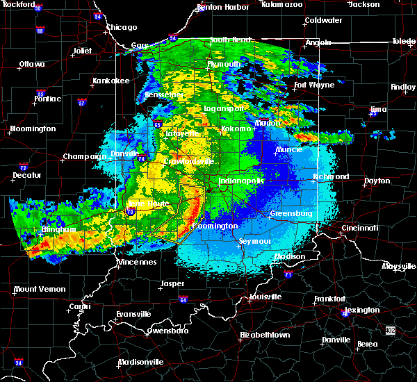 Radar Image for Severe Thunderstorms near Indianapolis, IN at 5/10/2017 11:26 PM EDT