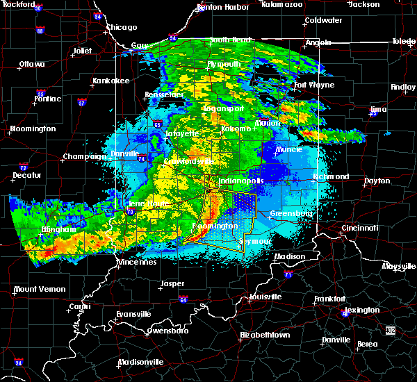 Radar Image for Severe Thunderstorms near Indianapolis, IN at 5/10/2017 11:38 PM EDT