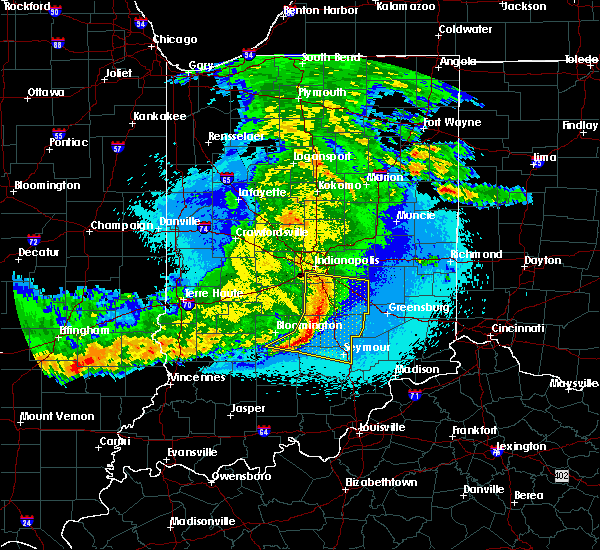 Radar Image for Severe Thunderstorms near Indianapolis, IN at 5/10/2017 11:45 PM EDT