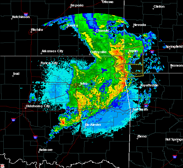 Radar Image for Severe Thunderstorms near Peoria, OK at 5/11/2017 12:29 AM CDT