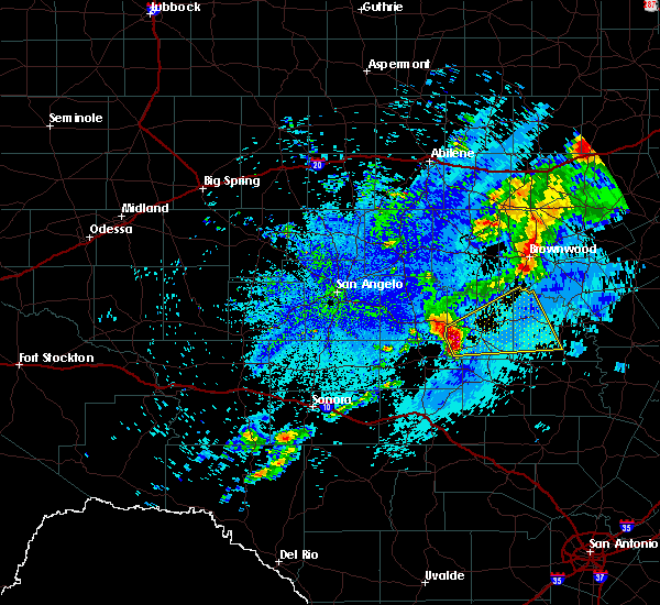 Radar Image for Severe Thunderstorms near Melvin, TX at 5/11/2017 4:40 AM CDT