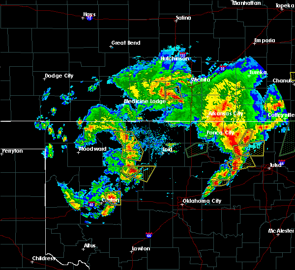 Radar Image for Severe Thunderstorms near Hitchcock, OK at 5/11/2017 4:23 PM CDT