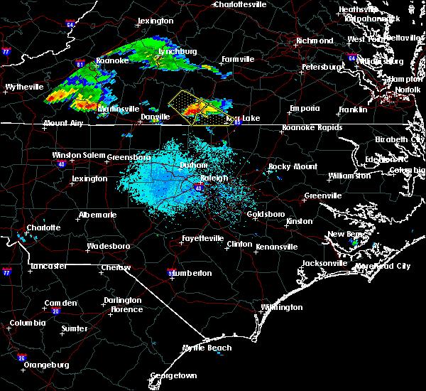 Radar Image for Severe Thunderstorms near Clarksville, VA at 5/11/2017 6:47 PM EDT