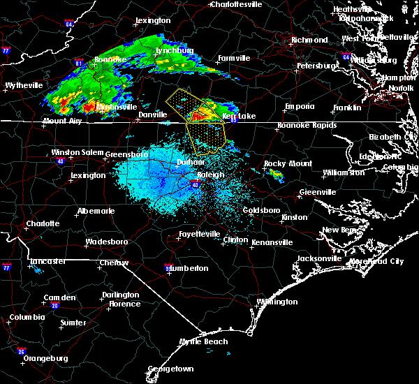 Radar Image for Severe Thunderstorms near Clarksville, VA at 5/11/2017 7:07 PM EDT