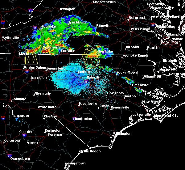 Radar Image for Severe Thunderstorms near Clarksville, VA at 5/11/2017 7:23 PM EDT