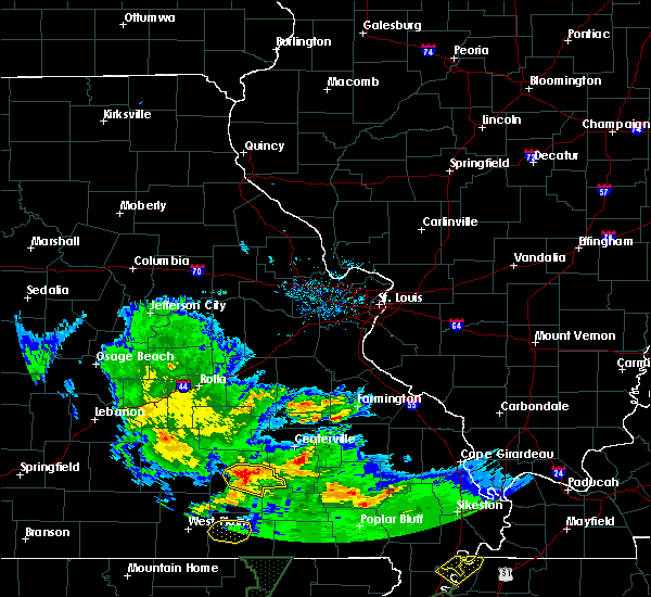 Radar Image for Severe Thunderstorms near Eminence, MO at 5/11/2017 7:13 PM CDT