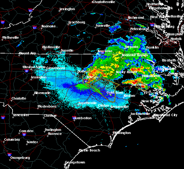 Radar Image for Severe Thunderstorms near Wilson, NC at 5/11/2017 9:54 PM EDT