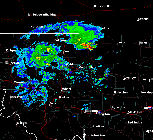 Radar Image for Severe Thunderstorms near Joplin, MT at 5/12/2017 3:46 PM MDT
