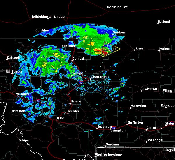 Radar Image for Severe Thunderstorms near Joplin, MT at 5/12/2017 3:52 PM MDT