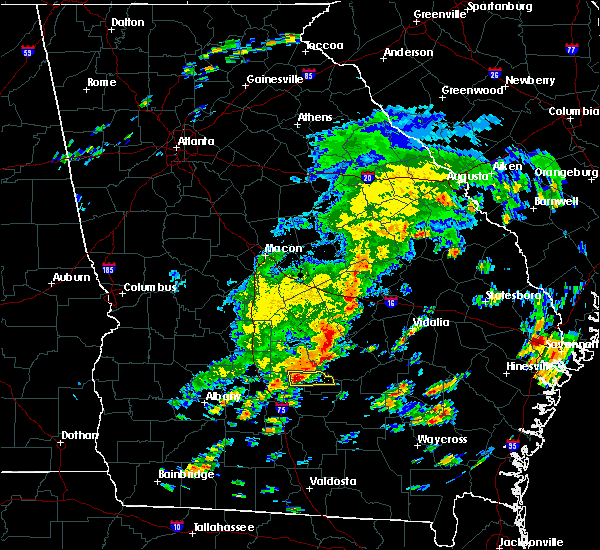 Radar Image for Severe Thunderstorms near Fitzgerald, GA at 5/13/2017 11:56 AM EDT