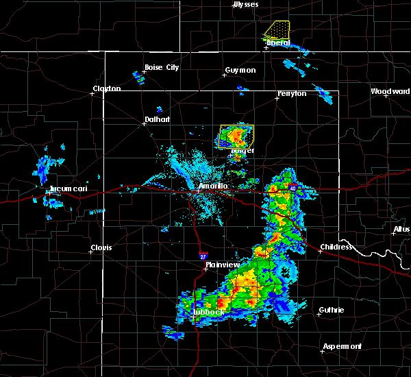 Radar Image for Severe Thunderstorms near Stinnett, TX at 5/14/2017 8:14 PM CDT