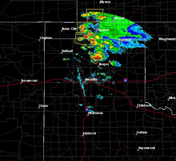 Radar Image for Severe Thunderstorms near Stinnett, TX at 5/15/2017 7:50 PM CDT