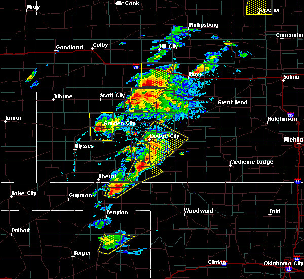Radar Image for Severe Thunderstorms near Jetmore, KS at 5/16/2017 4:29 PM CDT