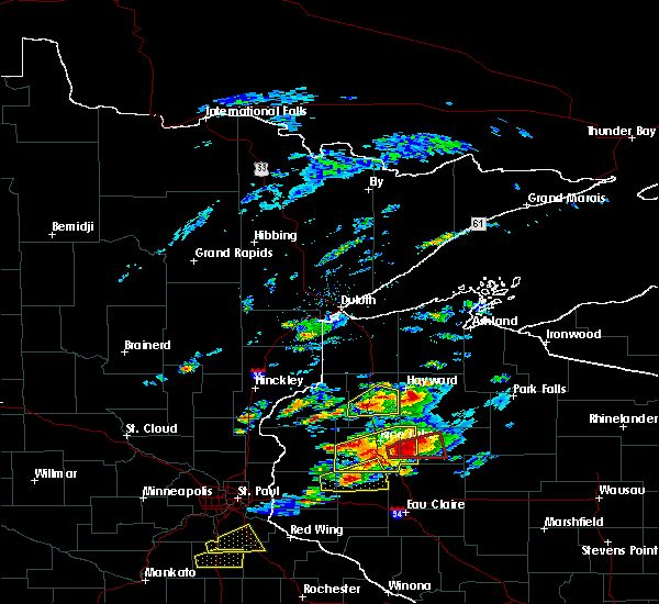 Radar Image for Severe Thunderstorms near Spooner, WI at 5/16/2017 5:46 PM CDT