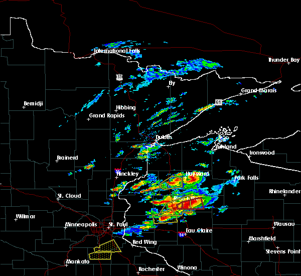 Radar Image for Severe Thunderstorms near Spooner, WI at 5/16/2017 5:52 PM CDT