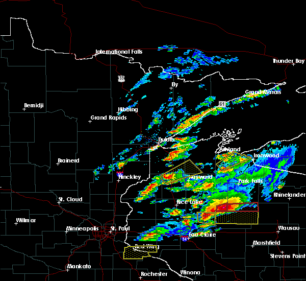 Radar Image for Severe Thunderstorms near Minong, WI at 5/16/2017 6:52 PM CDT