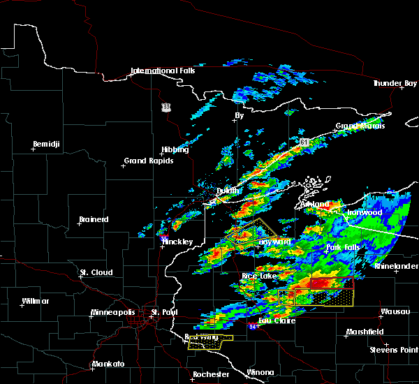 Radar Image for Severe Thunderstorms near Minong, WI at 5/16/2017 7:02 PM CDT