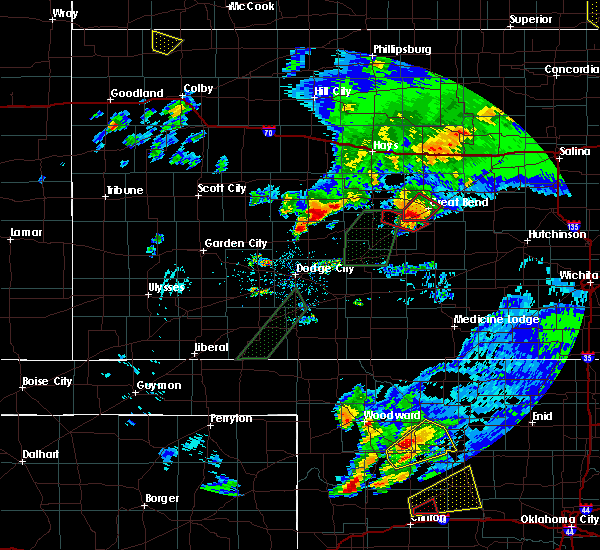 Radar Image for Severe Thunderstorms near Great Bend, KS at 5/16/2017 8:13 PM CDT