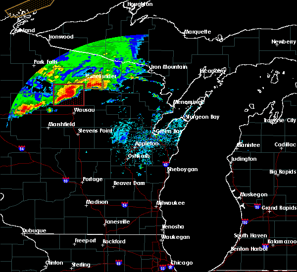 Radar Image for Severe Thunderstorms near Rhinelander, WI at 5/16/2017 8:20 PM CDT