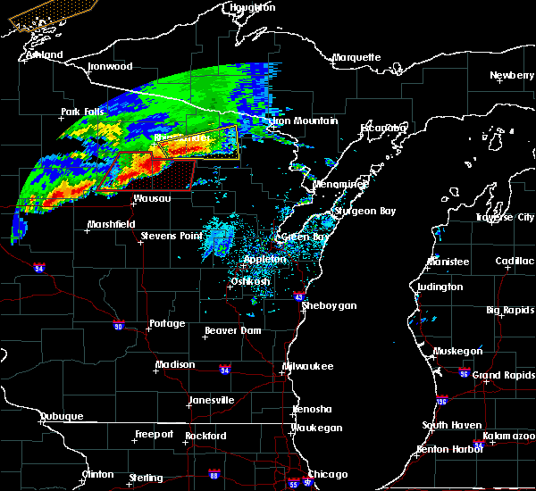 Radar Image for Severe Thunderstorms near Crandon, WI at 5/16/2017 8:34 PM CDT