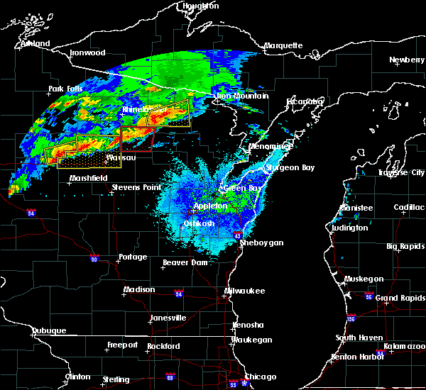 Radar Image for Severe Thunderstorms near Crandon, WI at 5/16/2017 8:59 PM CDT