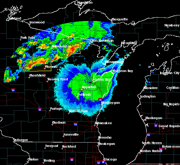 Radar Image for Severe Thunderstorms near Crandon, WI at 5/16/2017 9:10 PM CDT