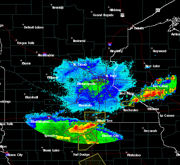 Radar Image for Severe Thunderstorms near Manchester, MN at 5/16/2017 9:47 PM CDT