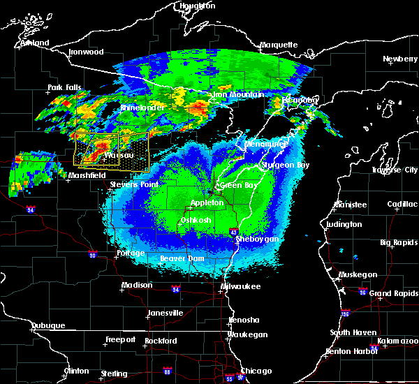 Radar Image for Severe Thunderstorms near Aniwa, WI at 5/16/2017 9:48 PM CDT