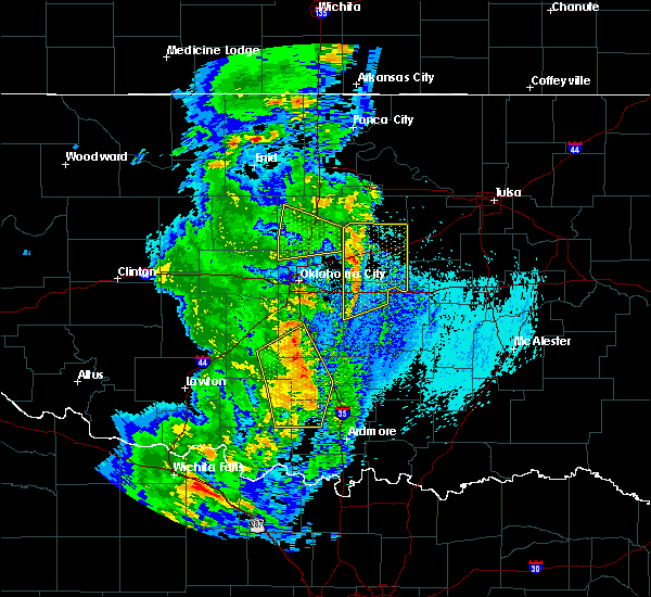 Radar Image for Severe Thunderstorms near Prague, OK at 5/17/2017 1:43 AM CDT