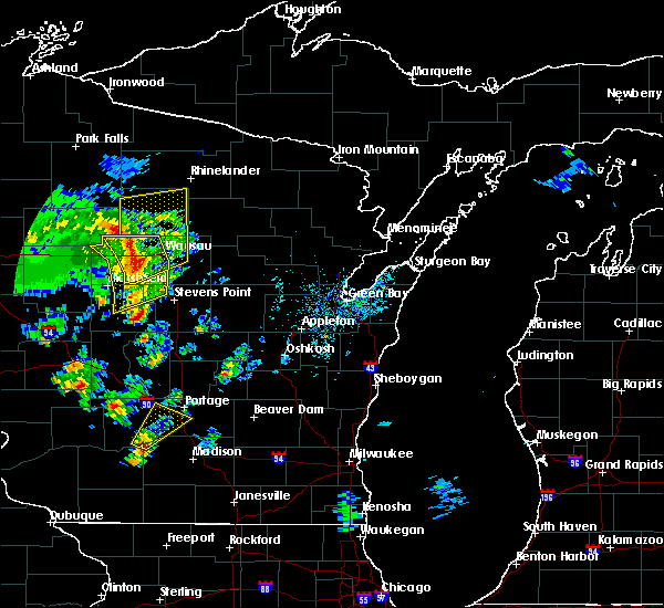 Radar Image for Severe Thunderstorms near Mosinee, WI at 5/17/2017 2:29 PM CDT