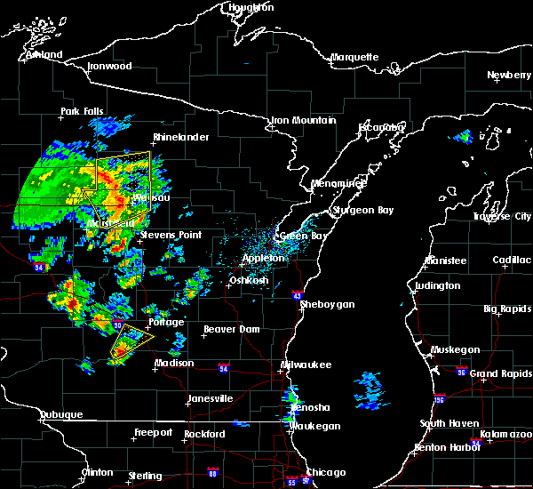 Radar Image for Severe Thunderstorms near Mosinee, WI at 5/17/2017 2:40 PM CDT