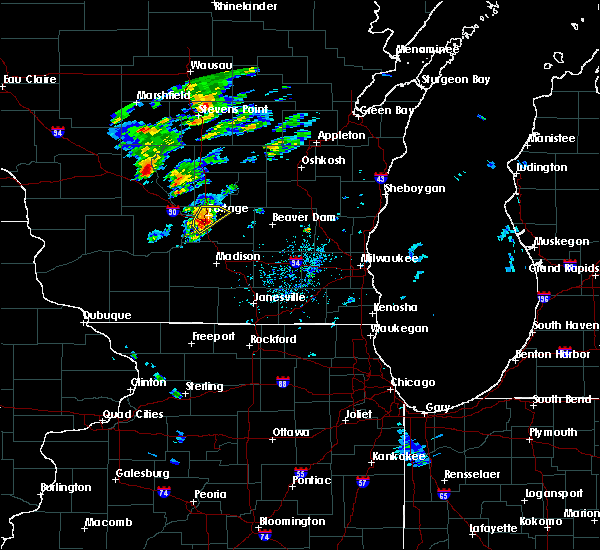 Radar Image for Severe Thunderstorms near Portage, WI at 5/17/2017 3:10 PM CDT