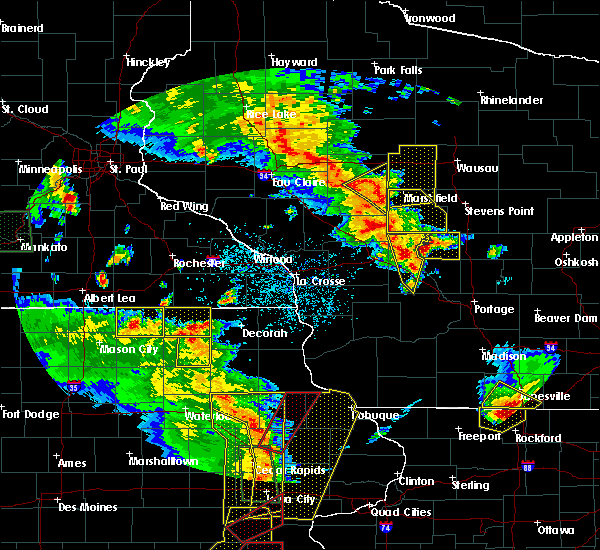 Radar Image for Severe Thunderstorms near Unity, WI at 5/17/2017 6:34 PM CDT