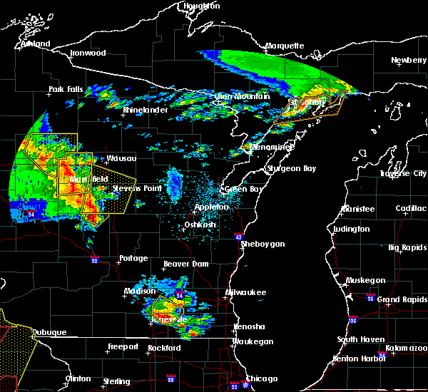 Radar Image for Severe Thunderstorms near Mosinee, WI at 5/17/2017 7:01 PM CDT