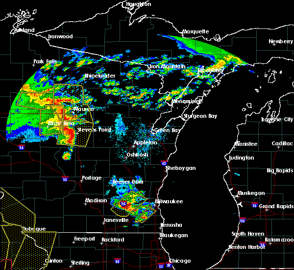 Radar Image for Severe Thunderstorms near Mosinee, WI at 5/17/2017 7:18 PM CDT