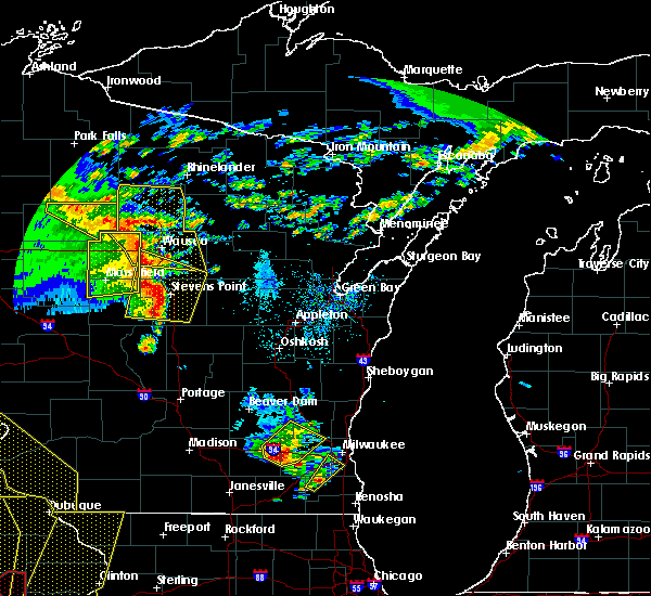 Radar Image for Severe Thunderstorms near Wisconsin Rapids, WI at 5/17/2017 7:22 PM CDT