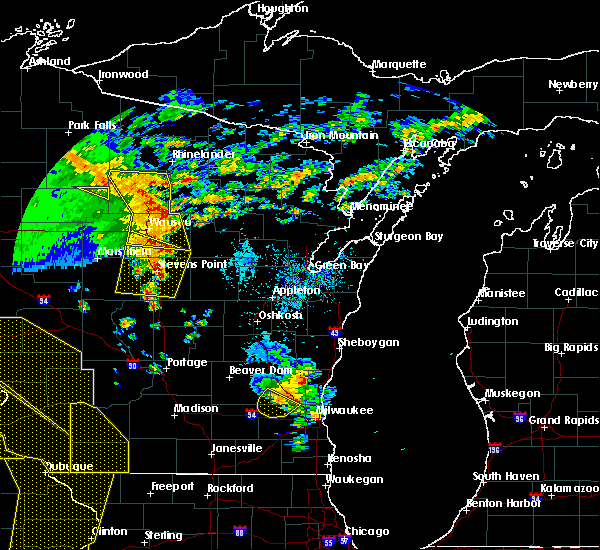Radar Image for Severe Thunderstorms near Mosinee, WI at 5/17/2017 7:41 PM CDT