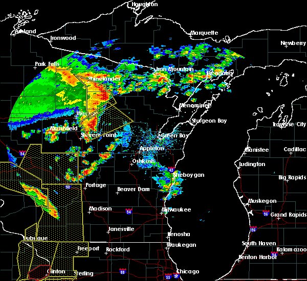 Radar Image for Severe Thunderstorms near Summit Lake, WI at 5/17/2017 8:11 PM CDT