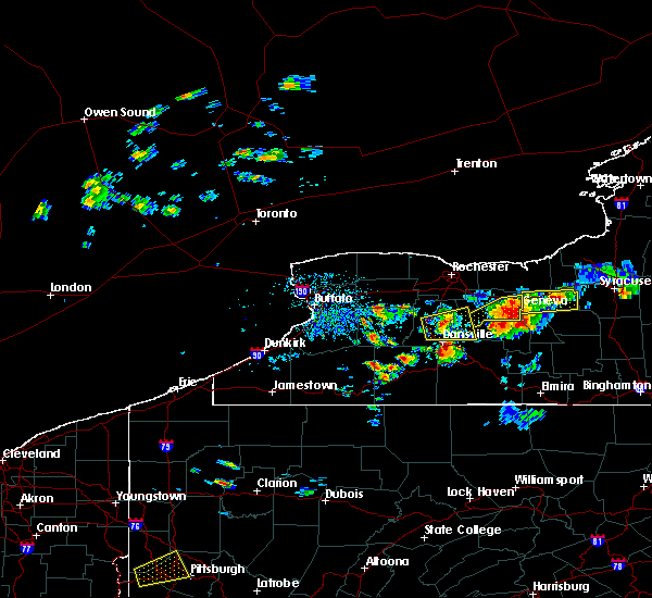 Radar Image for Severe Thunderstorms near Livonia, NY at 5/18/2017 4:36 PM EDT