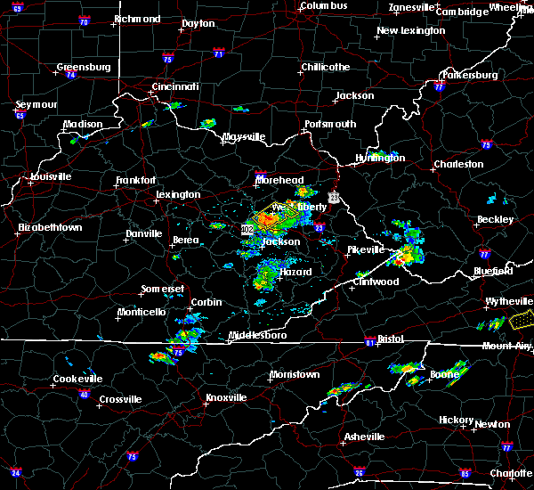 Radar Image for Severe Thunderstorms near Ezel, KY at 5/18/2017 5:21 PM EDT