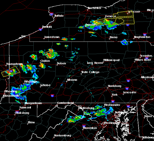 Radar Image for Severe Thunderstorms near Marienville, PA at 5/18/2017 5:24 PM EDT