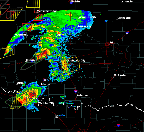 Radar Image for Severe Thunderstorms near Pink, OK at 5/18/2017 5:21 PM CDT