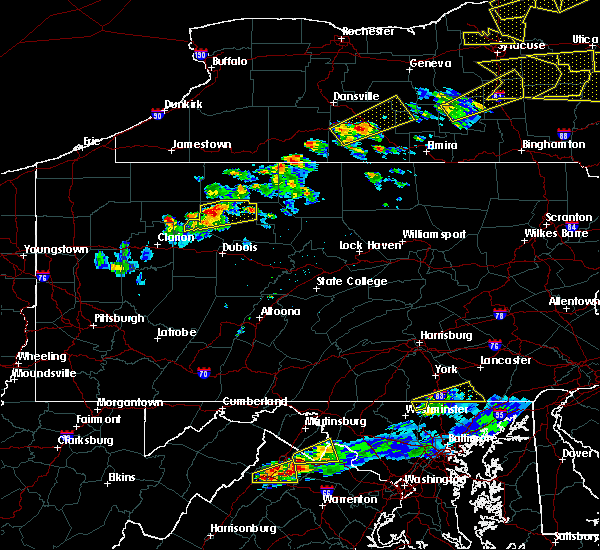 Radar Image for Severe Thunderstorms near St. Marys, PA at 5/18/2017 6:24 PM EDT
