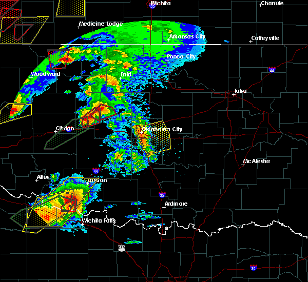 Radar Image for Severe Thunderstorms near Pink, OK at 5/18/2017 5:32 PM CDT
