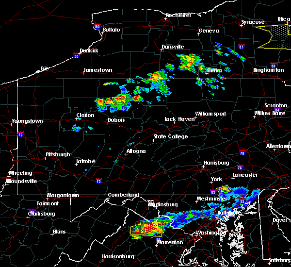 Radar Image for Severe Thunderstorms near St. Marys, PA at 5/18/2017 6:47 PM EDT