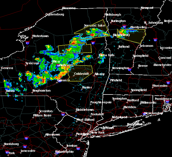 Radar Image for Severe Thunderstorms near Gloversville, NY at 5/18/2017 7:04 PM EDT